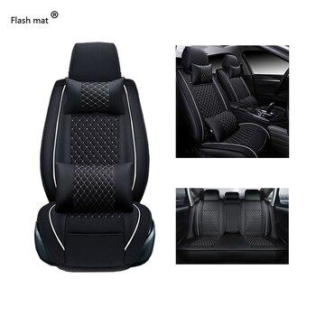 Flash mat Universal Leather Car Seat Covers for Pontiac Aztec Bonneville G4 G5 G6 G8 Grand Am car accessorie Car-Styling