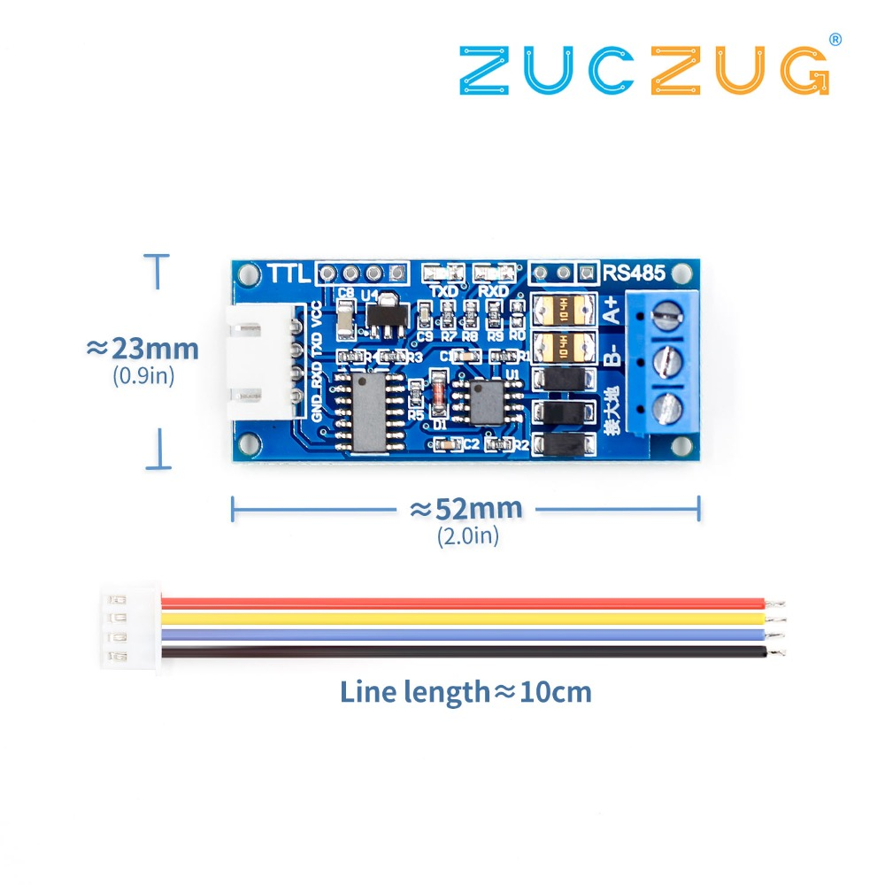 youe shone TTL to RS485 Power Supply Converter Board 3.3V 5V Hardware Auto Control Module AVR Wide Voltage Singal Indicator