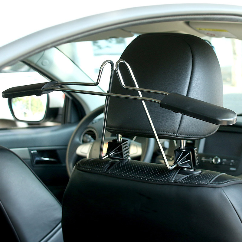 Car Hanger Clothes Rack Headrest Seat Stainless Steel Coat Jacket Suits Shirts Hangers Holder