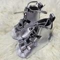 Plata de Gladiadores de Cuero Genuino Zapato Chico
