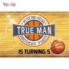 Yeele Wood Board Basketball Baby 5th Birthday Party Photography Background Children Boy Photographic Backdrop Photo Studio