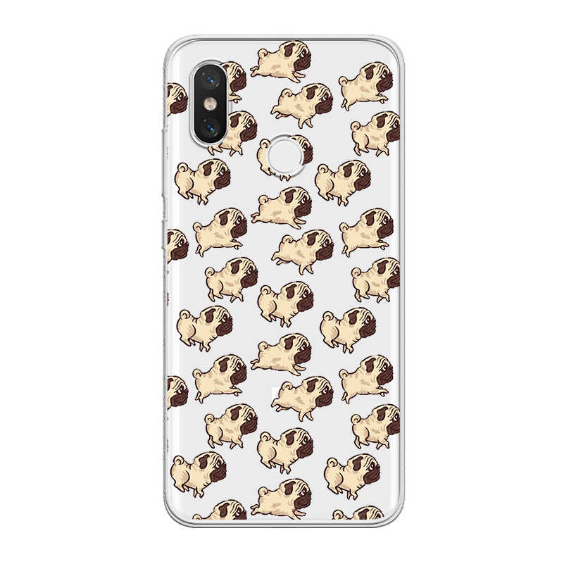 ciciber For Xiaomi A2 A1 8 6 5 X 5C 5S Plus Lite SE Poco Phone F1 Soft TPU Cases For Xiaomi MIX MAX 3 2 1 S Pro Funny Pug Dog