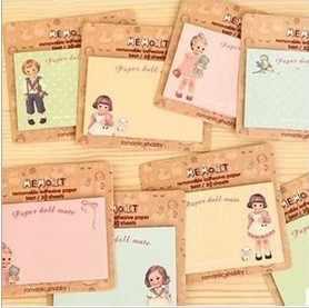 4 компл./лот мультяшная кукла свежие и милые наклейки N times/Липкие заметки/креативная бумага для заметок/блокноты для записей