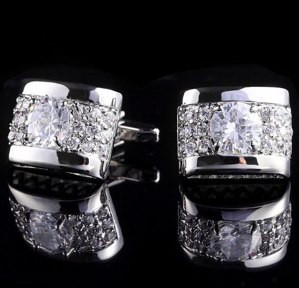 Luxury Laser pattern gemelos shirt cufflinks for mens Brand cuff buttons cuff links High Quality Silver abotoaduras Jewelry spade ace pattern electroplating brass cuff links buttons silver black pair