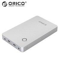 ORICO 28800 мАч Тетрадь Мощность банк Алюминий сплав Dual USB Выход DC 12/15/19 В Порты и разъёмы для Lattop с 10 шт. DC разъем