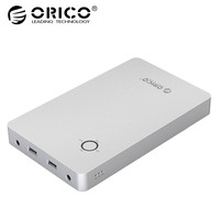 ORICO 28800mAh Notebook Power Bank Aluminum Alloy Dual USB Output One DC 12/15/19V Port for Lattop with 10pcs DC Connector