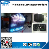 kaler P4 indoor pantalla SMD2121 flexible LED Display module soft display led panel custom made LED display screen videowall