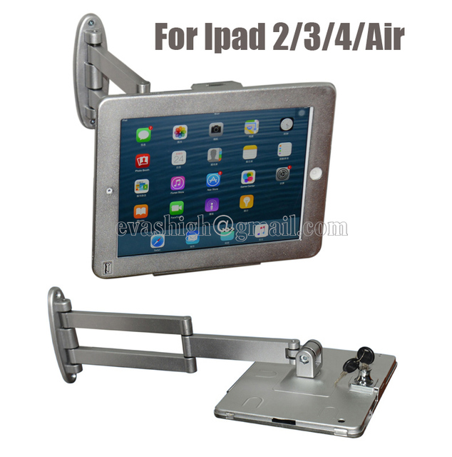 portable elastic flexible ipad wall mount flat pad security display lock tablet secure case antitheft support