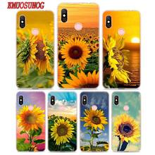 Transparent Soft Silicone Phone Case The most beautiful sunflower for Xiaomi Redmi S2 Note 7 4 4X 5 5A 6 6A Pro Plus