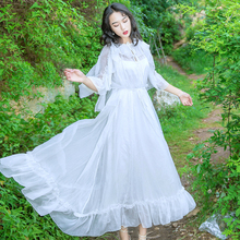 Maternity Photography Props Chiffon Pregnant Dress Baby Showers Temperament Maternity Dresses for Photo Shoot White Long Dress