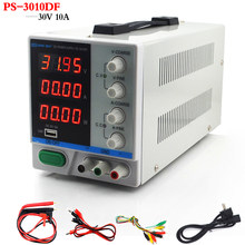 New PS-3010DF 4 Digit Display 30V 10A Laboratory DC Power Supply Adjustable USB Charging Repair Switching Regulated Power Supply(China)