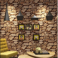 Beibehang Upscale Retro Personality Stone Pattern Marble Culture Stone Wallpaper Living Room Bar Coffee Shop Brick