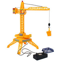 New strange wire control construction tower crane toys Simulation Model Educational Toy wired remote control RC car kids gift