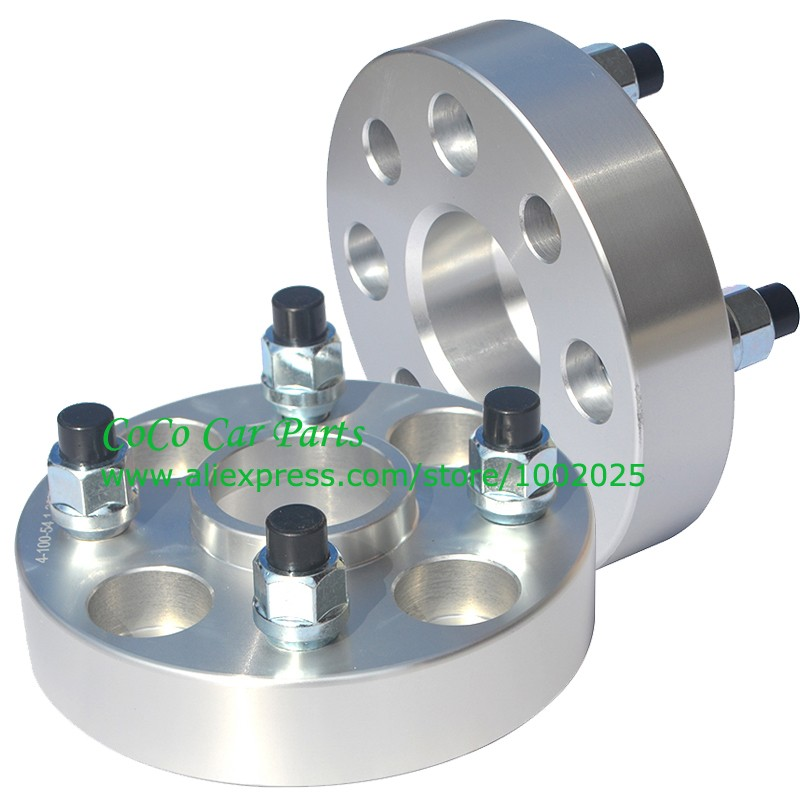 2pcs lot PCD 4x100 Center bore 54 1mm 20mm thickness Hub centric Car Wheel Spacers
