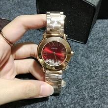 Наручные часы Кварцевые Часы Водонепроницаемые женские Часы Мода Стальной браслет Полноценно Зыбучие Пески Алмазов