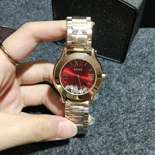 Wristwatches Quartz-Watches Waterproof Ladies's Watches Style Stainless Metal Band Excessive-Grade Quicksand Diamond