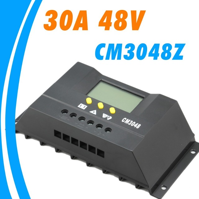 30A 48V Solar Controller LCD PV panel Battery Charge Controller Solar system Home indoor use Juta CM3048