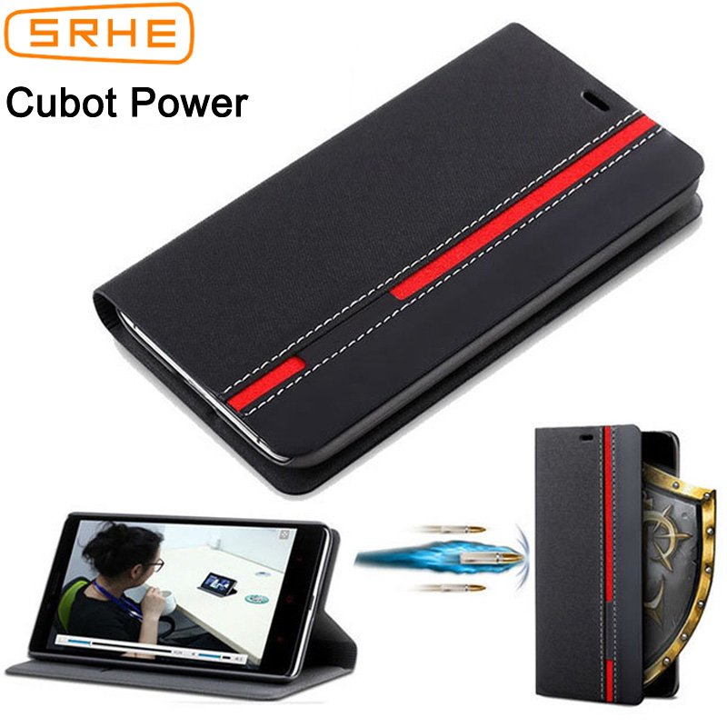 SRHE For Cubot Power Case Cover Cubot Power Flip Leather Silicone Back Cover Case For Cubot Power With Card Slot Holder