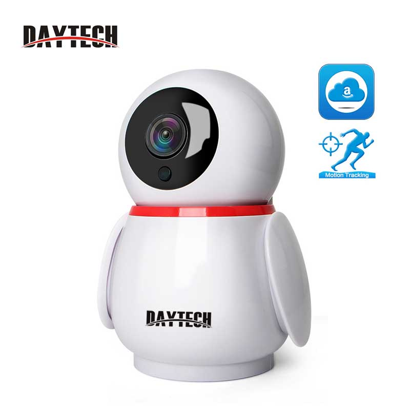 DAYTECH 2MP Smart Security IP Camera Wireless WiFi Mini Camera 1080P Baby Monitor Audio Cloud Record IOS Android Auto Tracking