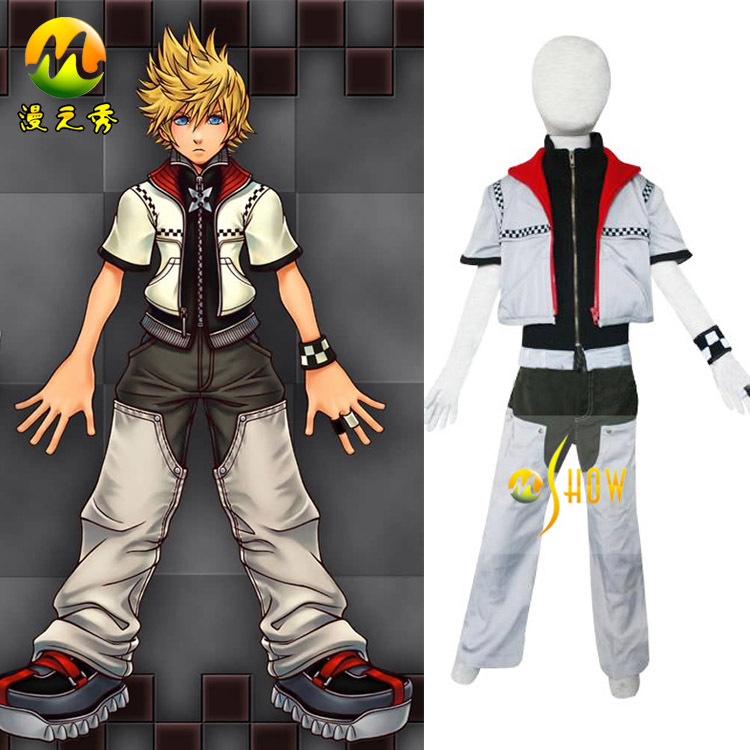 hot cartoon anime character cos kingdom hearts 2 roxas kids cosplay costume halloween party masquerade costume - Partyland Halloween Costumes