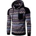 2016 Newest Fashion Men's Flower Hoodies Fleece Hooded Jacket Stitch Costume Knitted Sweatshirt For Man Sportswear Hip Hop Hoody