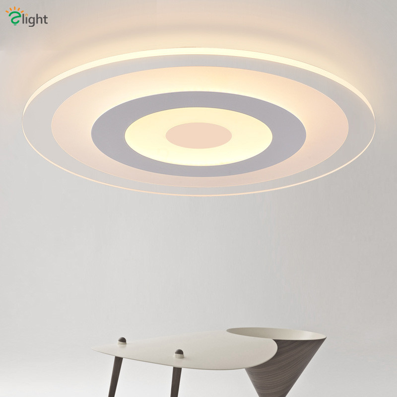 Nordic Simple Round Acrylic Led Ceiling Lights Lustre PMMA Bedroom Dimmable Led Ceiling Lamp Novelty Led Lighting Light Fixtures все цены