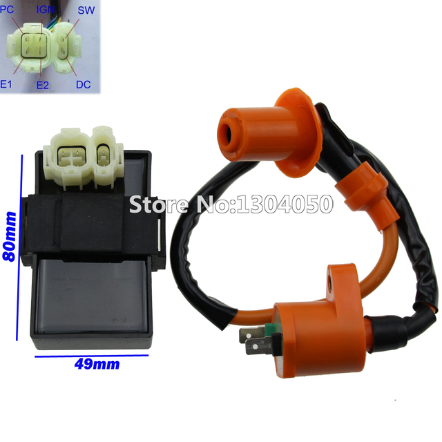 US $15 58 13% OFF|NEW Performance Ignition Coil & DC CDI BOX 6 Pin For  Kymco SYM Vento Scooter Moped GY6 Engine free shipping-in Motorbike  Ingition