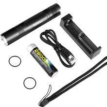 SF32 ערכת LED פנס 18650 קריס XML T6 400 לום טקטי EDC נייד פנס לפיד אור 5 מצב עם סוללה ומטען