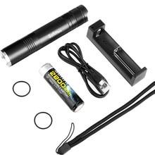 Zestaw SF32 LED latarka 18650 Cree XML T6 400 lumenów taktyczna EDC przenośna latarka latarka 5 tryb z akumulator i ładowarka