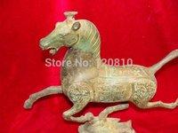 Элегантный Старый Бронзовая статуя/Скульптура лошадь наступая на ласточка, лучшая коллекция