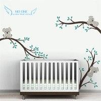 Oversize removíveis Koala ramos de árvore DIY decalques adesivos de parede do berçário etiquetas da parede do bebê vinílicos arte para crianças quartos