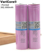 6 pcs. VariCore 100% new original INR18650 30Q 3000 mAh battery INR18650 energy lithium battery rechargeable batteries+pointed