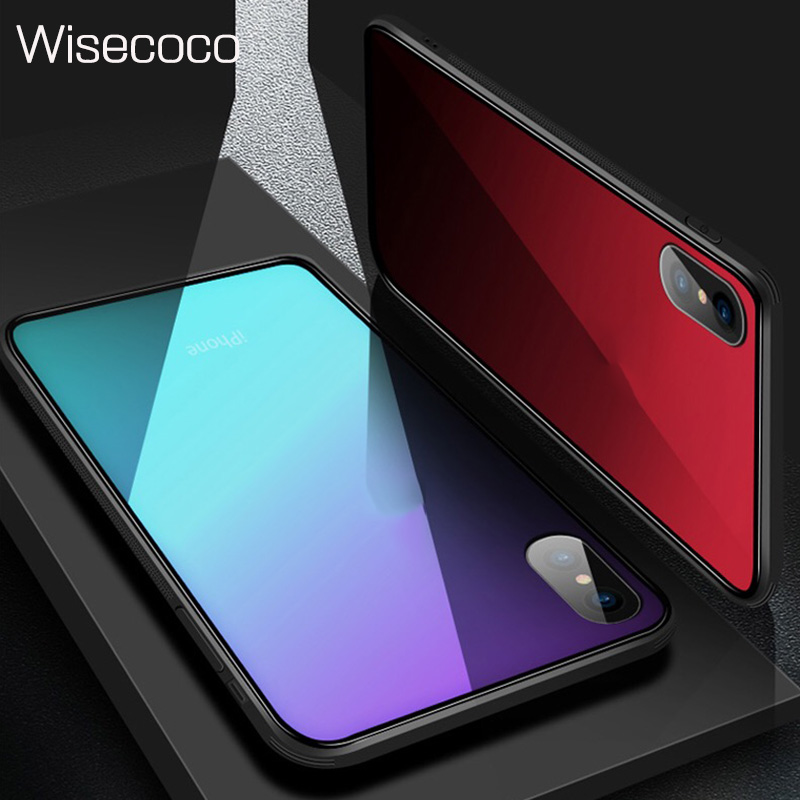 42d9111eccebbd Luxury Tempered Glass Phone Case For iPhone 6 6 s 7 8 Plus X 10 360 Back  Cover