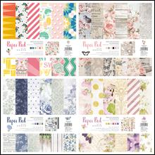 24pcs/Pack 10*10inch Zebra Flower Die Cut Patterned Paper Pad Pack Scrapbooking DIY Happy Planner Card Making Journal Project