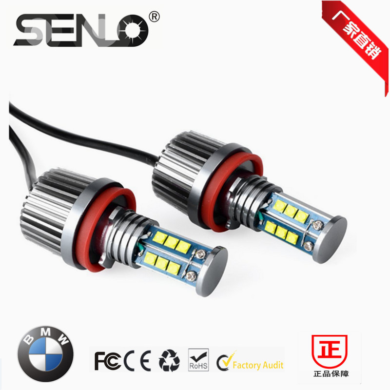 High bright H8 E92 LED marker canbus LED angel eyes 120W XENON White 6000K for bmw X5 E70 X6 E71 E90 E91 E92 M3 E60 2pcs pair 24 led license plate led light lamp white 6000k error free for bmw e39 m5 e70 e71 x5 x6 e60 m5 e90 e92 e93 m3 525i