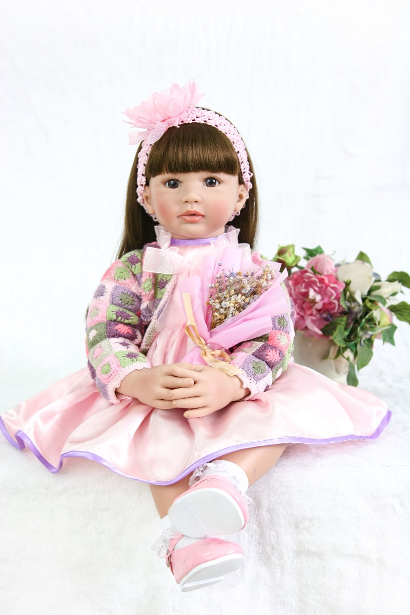 60cm Silicone Vinyl Reborn Baby Doll Toys For Girl Like Real Princess Toddler Babies Alive Bebe Brinquedos Birthday Xmas Gift60cm Silicone Vinyl Reborn Baby Doll Toys For Girl Like Real Princess Toddler Babies Alive Bebe Brinquedos Birthday Xmas Gift