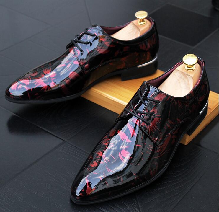 Apartamentos 2018 Casa Sapatos Casamento 2 Baile Formal Do Nacional Zapatos Impressão Regresso 1 Vestido Finalistas Hombre 3 Vestir A Oxfords Shoes Britânico De Designer qtfI4