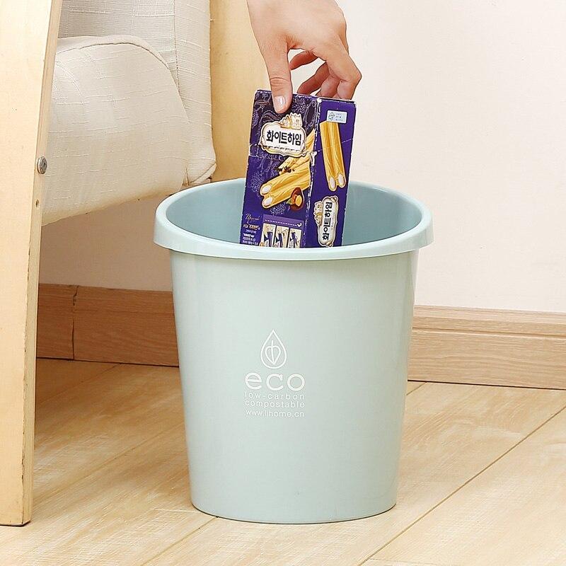Plastic Bevel Garbage Can Home Trash Can Garbage Dust Case Waste Holder Bin Cleaning Barrel Bathroom Kitchen