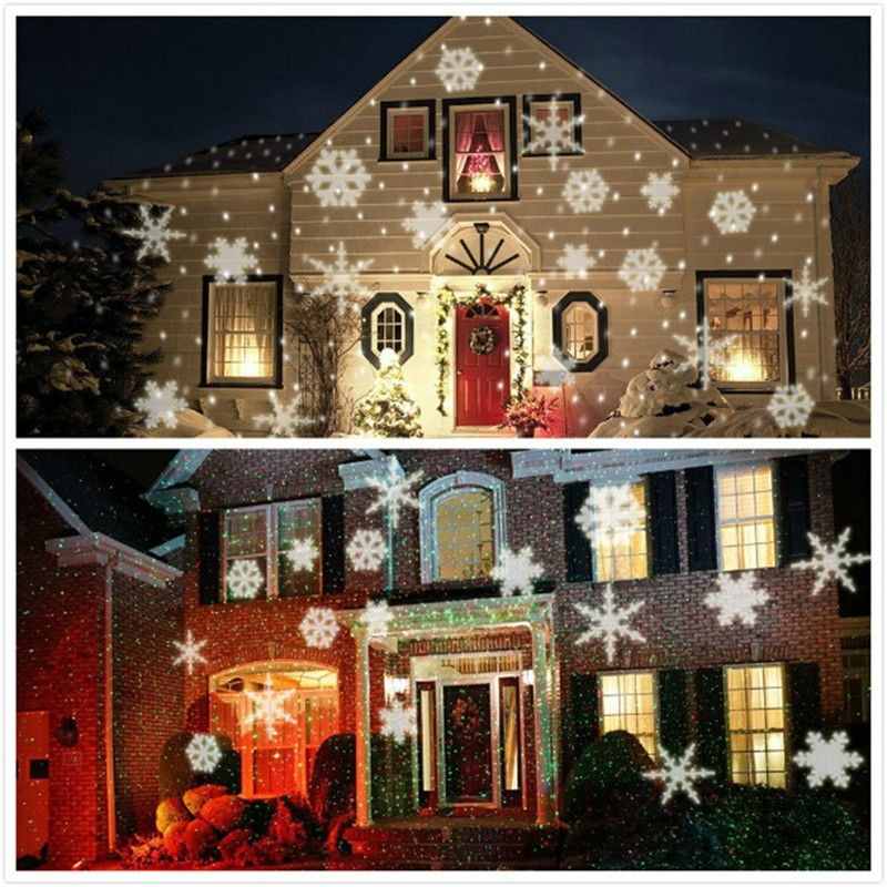 Six lens Christmas Lights Snowflake Projector Sparkling holiday - christmas decoration projector