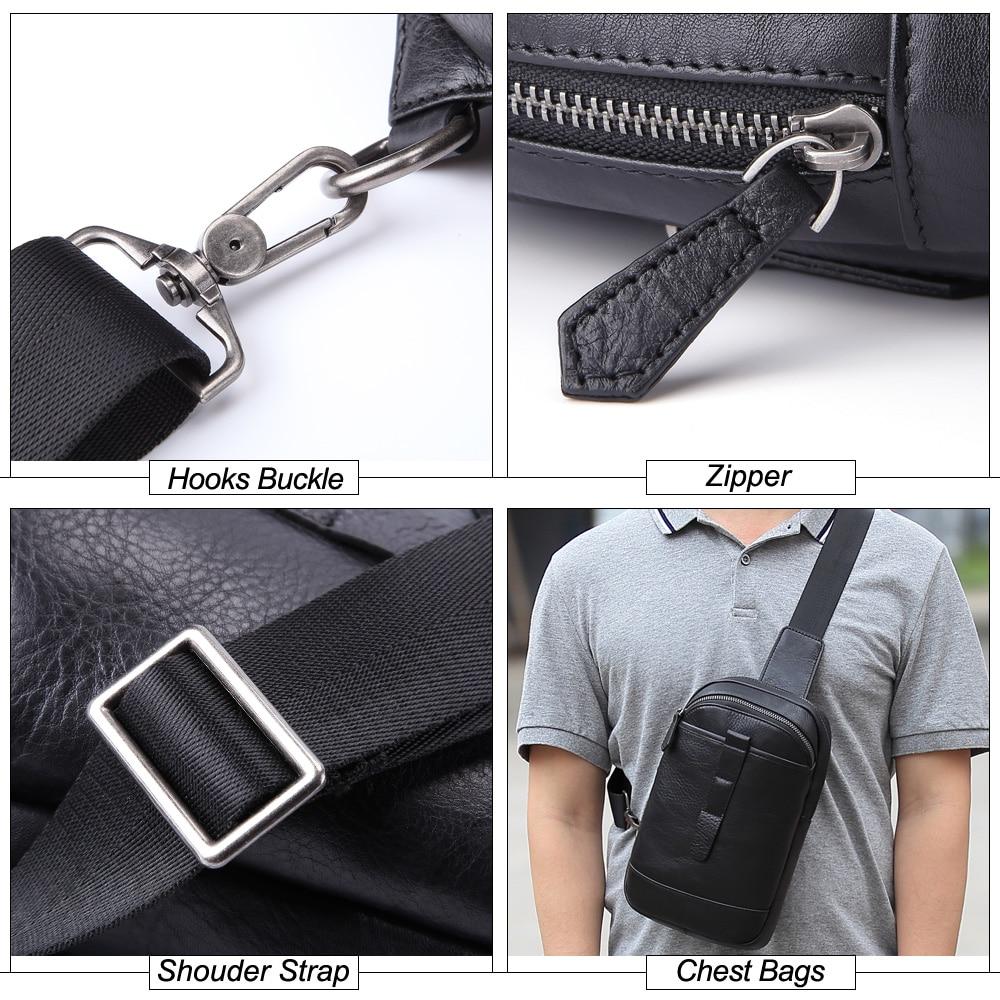 SEVENE нагрудные сумки на одно плечо сумка Повседневная Натуральная кожа сумки через плечо мужские сумки мессенджеры сумки для бега альпинистские дорожные сумки - 5