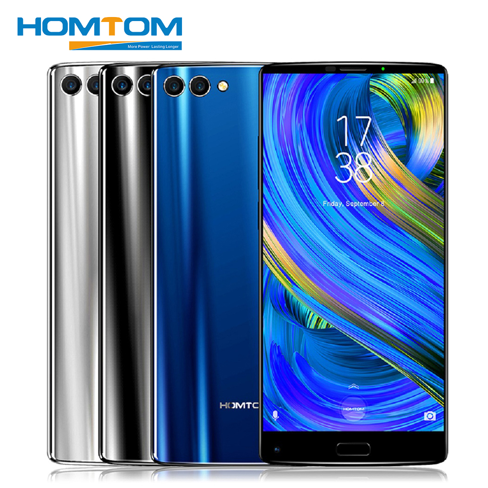 HOMTOM S9 Plus 4G Smartphone 5.99 18:9 HD + IPS Mobile Téléphone 4 GB + 64 GB MTK6750T Octa Core Avant 13MP Retour Double 5MP + 16MP 4050 mAh