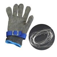 Бесплатная доставка Защитные перчатки-доказательство Stab упорная работа Перчатки Кухня Нержавеющая сталь Металлической Сетки Мясник