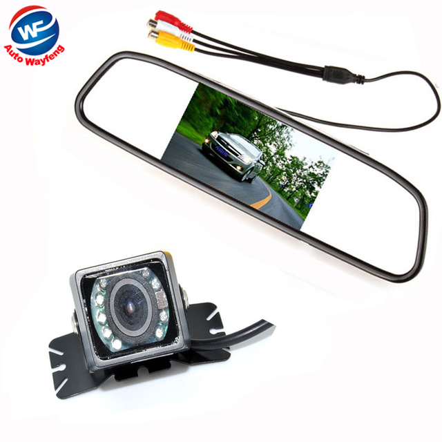 Car Auto Parking Camera Monitors System, IR Night Vision Rear View Camera With 4.3 inch LCD Car Mirror Monitor Camera