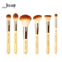 Jessup Brand 8pcs Beauty Bamboo Professional Makeup Brushes Set Make Up Brush Tools Kit Buffer Paint