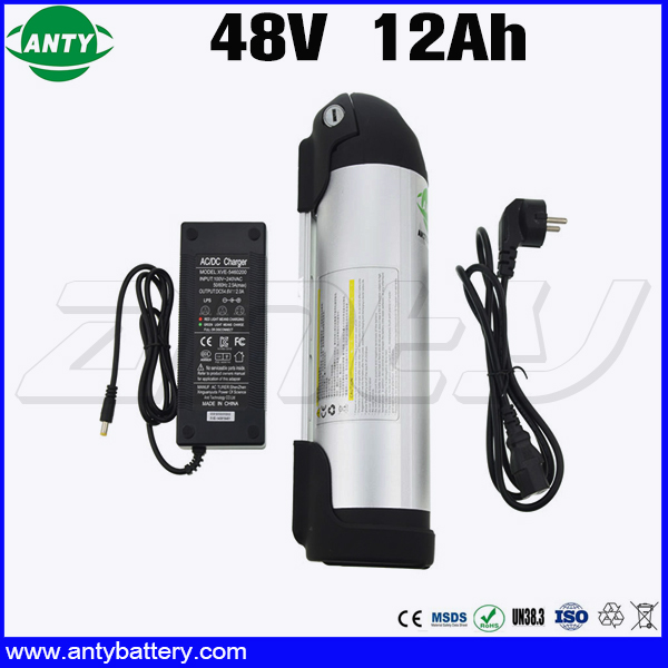 Water Bottle Battery 48v 350w For 18650 Cell eBike Battery 48v 12Ah with 2A Charger 15A BMS Lithium Battery 48v Free Shipping web камеры a4tech web камера a4 pk 720g черный и серебристый