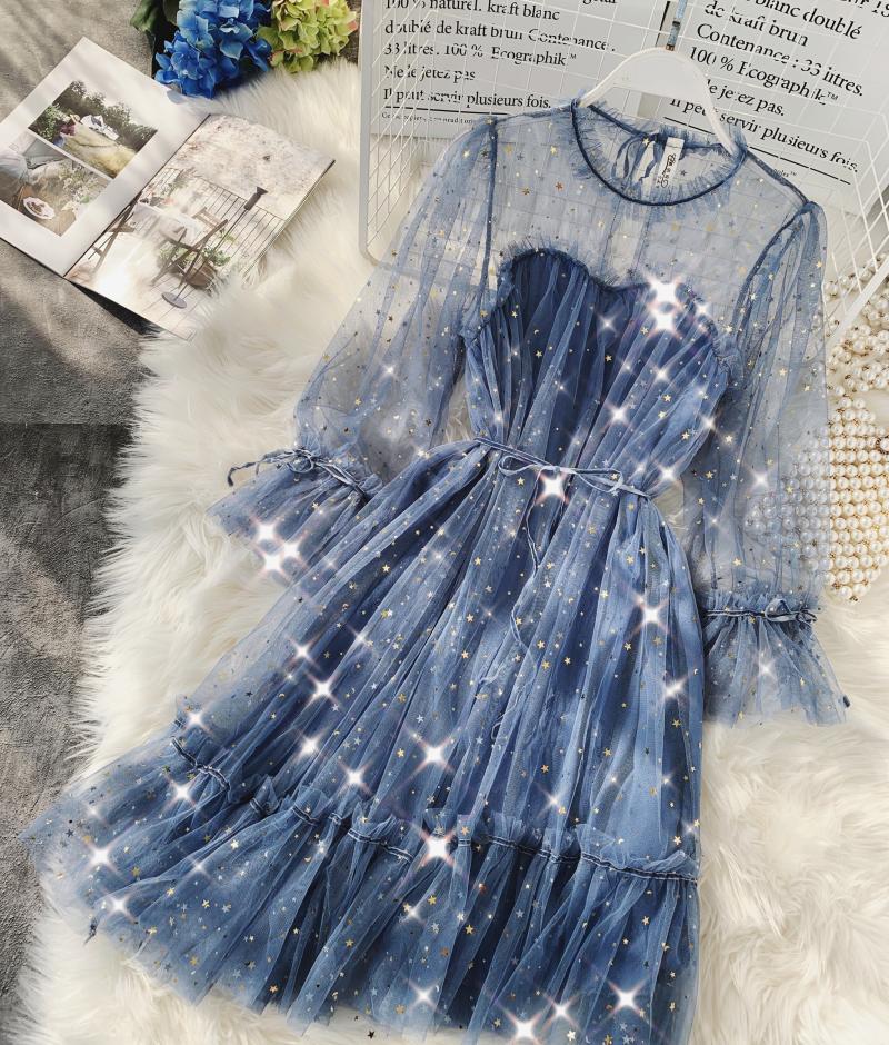 Gauze Two Piece Midi Dress 14