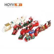 New Christmas Cartoon Train Decoration Kids Toys Gift Year HOYVJOY