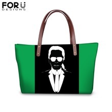 FORUDESIGNS Customize Image Karl Lagerfelds Printing Handbags for Women Girl Colorful Shoulder Bag Ladies Femme Shopping
