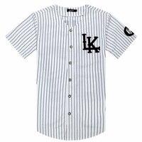 2018-2019 Горячие Selled мужские футболки мода уличная хип хоп бейсбол Джерси полосатая рубашка мужская одежда Tyga Последние короли одежда