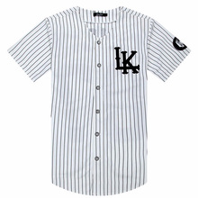2018-2019 Hot Selled Men T-shirts Fashion Streetwear Hip Hop Baseball Jersey Striped Shirt Men Clothing Tyga Last Kings Clothes
